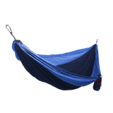 Grand Trunk Single Parachute Nylon Hammock-Hammock-GRAND TRUNK-Navy/Light Blue-Hammock UP