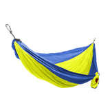 Grand Trunk Single Parachute Nylon Hammock-Hammock-GRAND TRUNK-Neon/Blue-Hammock UP