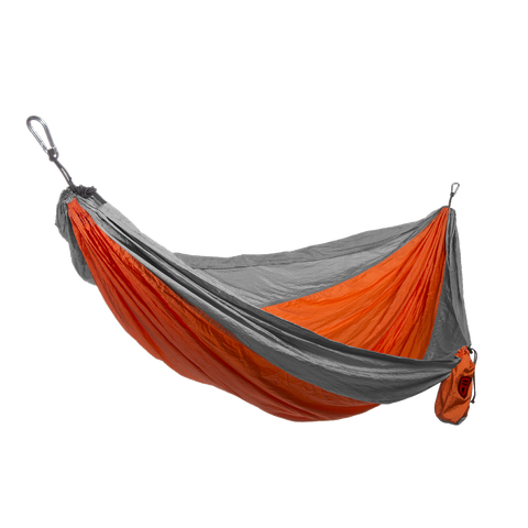 Grand Trunk Single Parachute Nylon Hammock-Hammock-GRAND TRUNK-Orange/Silver-Hammock UP