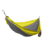 Grand Trunk Single Parachute Nylon Hammock-Hammock-GRAND TRUNK-Silver/Yellow-Hammock UP