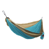 Grand Trunk Single Parachute Nylon Hammock-Hammock-GRAND TRUNK-Turquoise/Khaki-Hammock UP