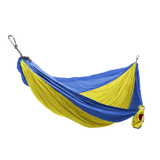 Grand Trunk Single Parachute Nylon Hammock-Hammock-GRAND TRUNK-Yellow/Blue-Hammock UP