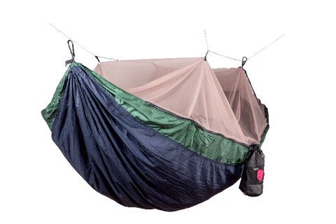 Grand Trunk Skeeter Beeter Pro Hammock-Hammock-GRAND TRUNK-Navy/Forest-Hammock UP