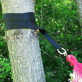 Hammock Tree Straps with Carrying Bag- Black-Hammock Accessories-SUNNYDAZE DECOR-Hammock UP