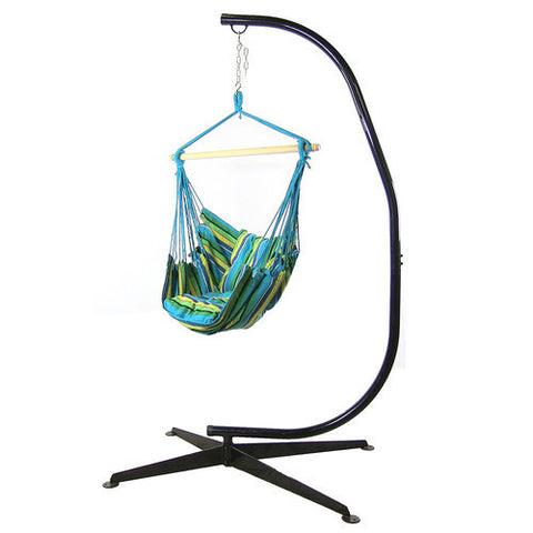 Hanging Hammock Swing and C-Stand Combo - Ocean Breeze-Combo-SUNNYDAZE DECOR-Hammock UP