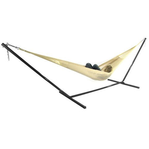Matrimonial Mayan Hammock and Stand Combo - Natural-Combo-SUNNYDAZE DECOR-Hammock UP
