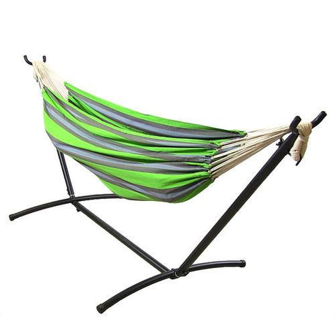 Natural Tightly Woven Cotton Double Brazilian Hammock and Stand Combo - Midnight Jungle-Combo-SUNNYDAZE DECOR-Hammock UP