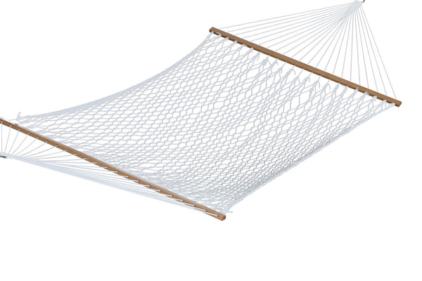 Polyester Rope Hammock - Double (White)-Hammock-Vivere-Hammock UP