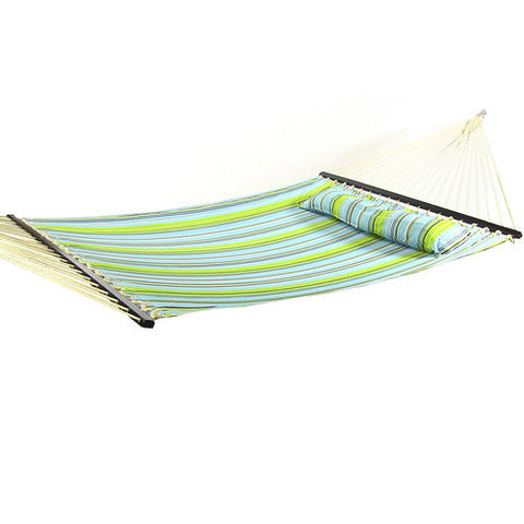 Quilted Double Fabric Hammock with Spreader Bar and Pillow-Fabric Hammock-SUNNYDAZE DECOR-Hammock UP
