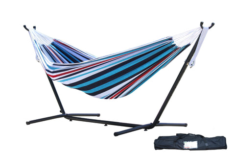 s Combo - Double Denim Hammock with Stand (9ft)-Combo-VIVERE-Hammock UP
