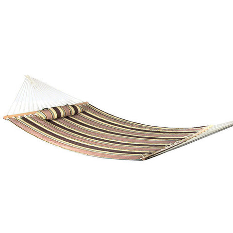 Sandy Beach Quilted Double Hammock with Spreader Bar-Fabric Hammock-SUNNYDAZE DECOR-Hammock UP