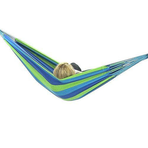 Sunnydaze Decor Cool Breeze Double Brazilian Hammock-Fabric Hammock-SUNNYDAZE DECOR-Hammock UP