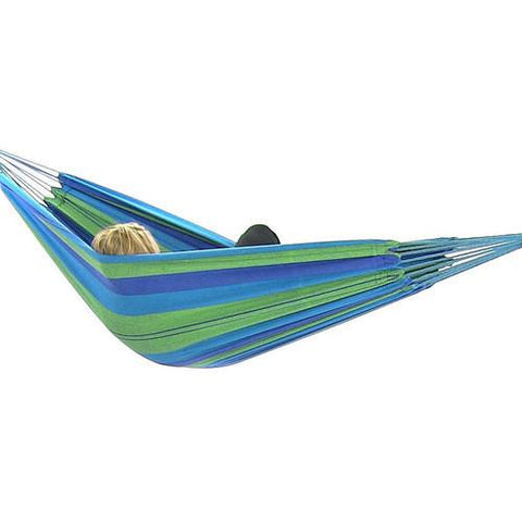 Sunnydaze Decor Cotton Double Brazilian Hammock- Beach Oasis-Fabric Hammock-SUNNYDAZE DECOR-Hammock UP