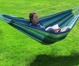 Sunnydaze Decor Cotton Double Brazilian Hammock- Ocean Breeze-Fabric Hammock-SUNNYDAZE DECOR-Hammock UP
