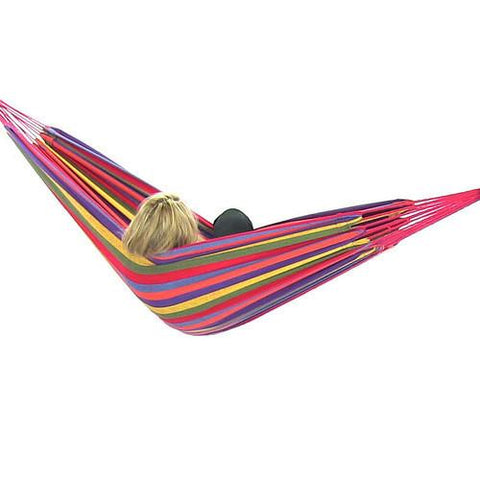 Sunnydaze Decor Cotton Double Brazilian Hammock - Tropical Sunset-Fabric Hammock-SUNNYDAZE DECOR-Hammock UP