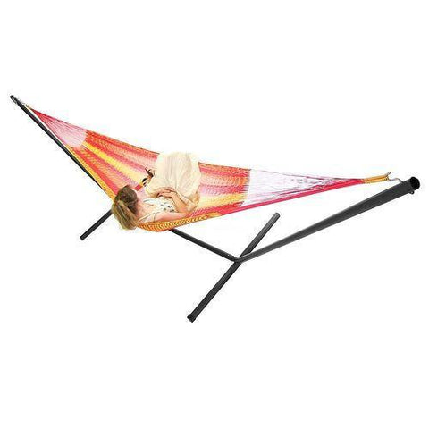 SUNNYDAZE DECOR Double Mayan Hammock and Stand Combo-Combo-SUNNYDAZE DECOR-Hammock UP