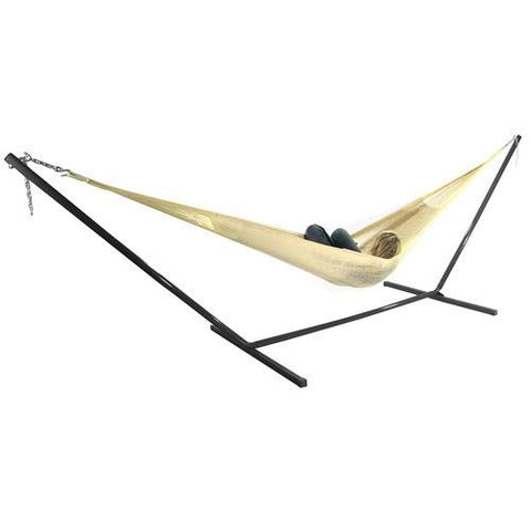 SUNNYDAZE DECOR Double Mayan Hammock and Stand Combo- Natural-Combo-SUNNYDAZE DECOR-Hammock UP