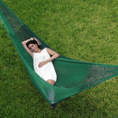 SUNNYDAZE DECOR Double Mayan Hammock - Green-Mayan Hammock-SUNNYDAZE DECOR-Hammock UP