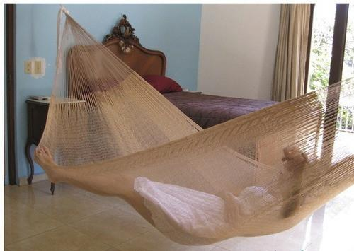 SUNNYDAZE DECOR Double Mayan Hammock - Natural-Mayan Hammock-SUNNYDAZE DECOR-Hammock UP