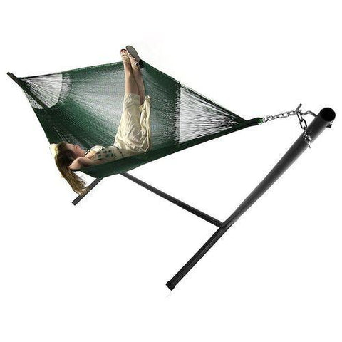 SUNNYDAZE DECOR Family Mayan Hammock and Stand Combo - Green-Combo-SUNNYDAZE DECOR-Hammock UP