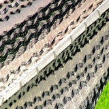 Thick Cord Matrimonial Mayan Hammock- Black and Natural-Mayan hammock-SUNNYDAZE DECOR-Hammock UP