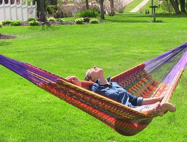 Thick Cord Matrimonial Mayan Hammock- Multi Colored-Mayan hammock-SUNNYDAZE DECOR-Hammock UP