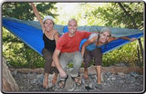 Triple Hammock Blue/Silver-Hammock-HAMMOCK BLISS-Hammock UP