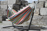 Vivere Combo - Double Polyester Hammock with Stand (9ft)-Combo-VIVERE-Hammock UP