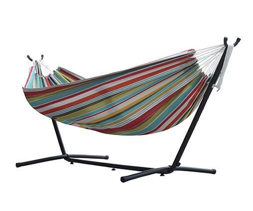 Vivere Combo - Double Polyester Hammock with Stand (9ft)-Combo-VIVERE-Ciao-Hammock UP
