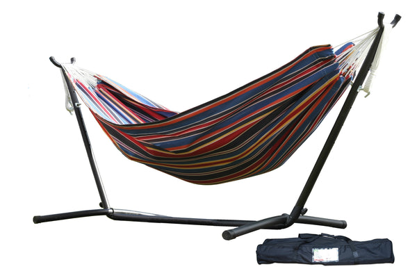 Vivere Combo   Double Polyester Hammock With Stand (9ft)   Techno C9POLY 11  Combo U2013 Hammock UP