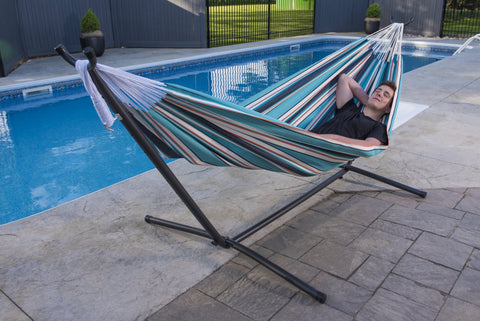 Wonderful ... Vivere Combo   Sunbrella® Hammock With Stand (9ft) Combo VIVERE  ...