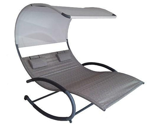 Vivere Double Chaise Rocker-Rocker-VIVERE-Sienna-Hammock UP