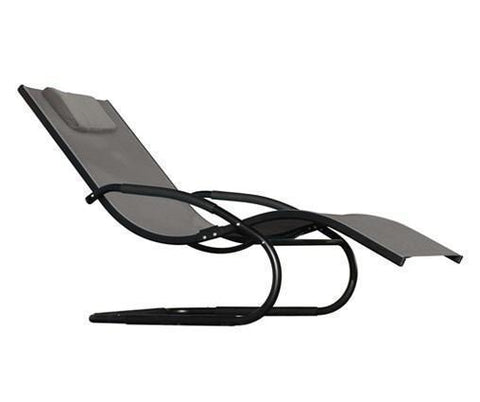 Wave Lounger - Aluminum - Cocoa-Rocker-VIVERE-Hammock UP