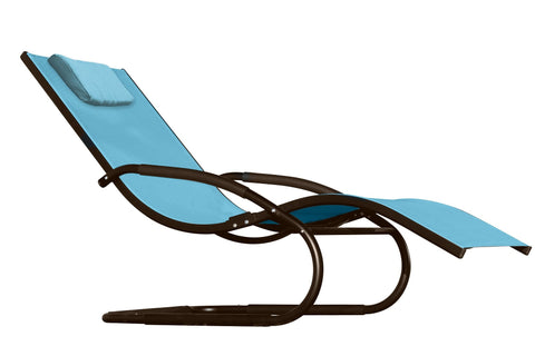 Wave Lounger - Aluminum - Sky Blue-Lounger-Vivere-Hammock UP