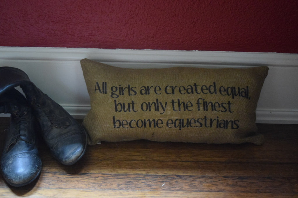 Created Equal Quote Pillow - available in 4 different fabrics