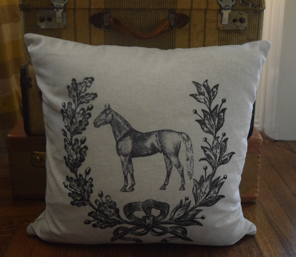 Horse and Wreath Pillow