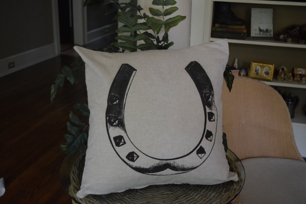 Horse Shoe Pillow