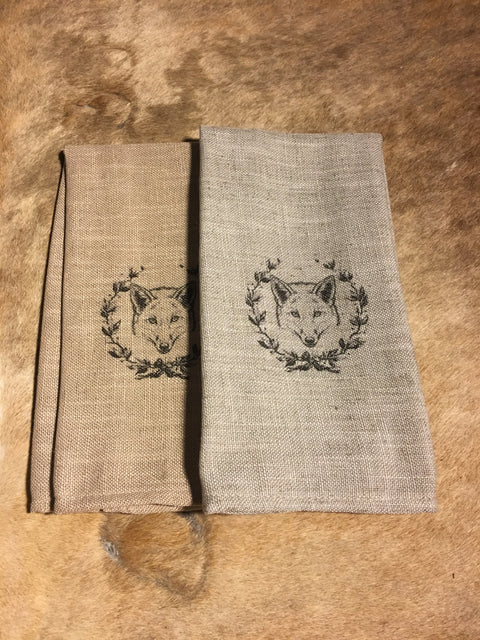 Fox and Wreath Cafe Towels