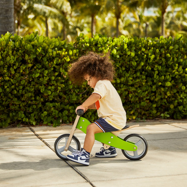 2-in-1 Balance Bike - GREEN