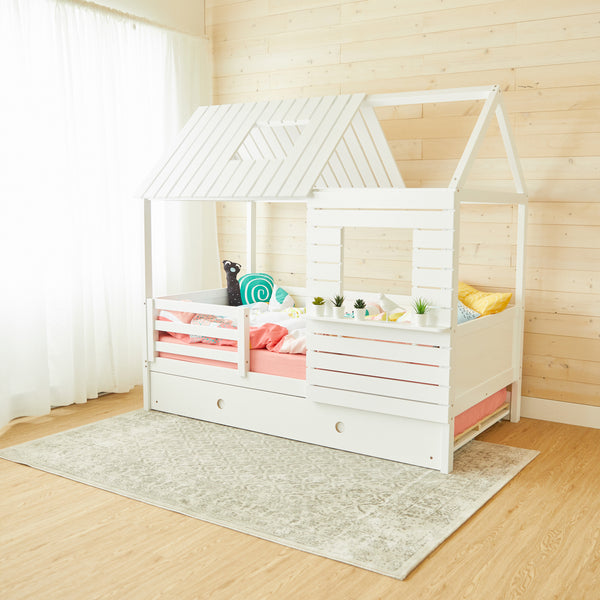 Lake House Bed - WHITE - Twin Size