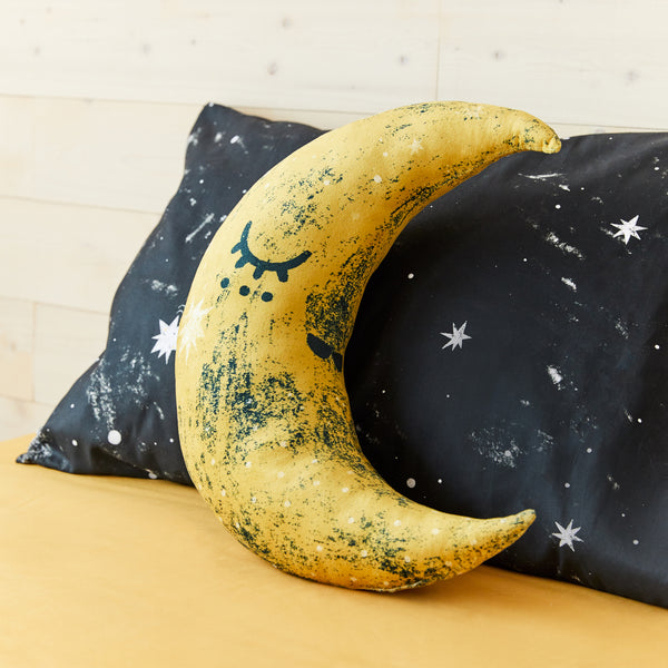 Moon shaped cushion