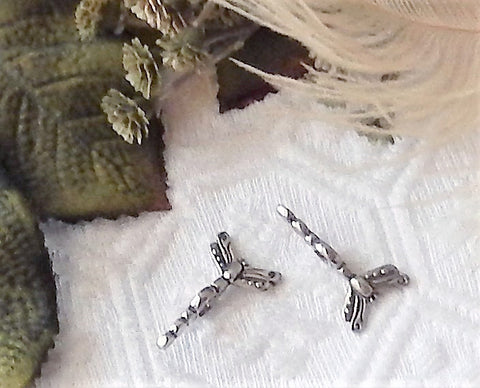 Sterling Silver Large Hole Dragonfly Bead Spacer Spinner Set