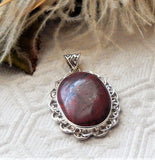 Artisan Crafted Sterling Silver Red Jasper Pendant