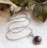 Artisan Crafted Sterling Silver Dichroic Glass Necklace