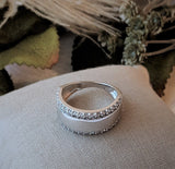 DiamonLuxe Sterling Silver CZ Band Ring Size 7