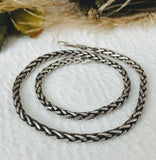 Artisan Sterling Silver Wheat Chain Necklace