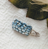 Artisan Crafted Fine Silver Polymer/Enamel Reversible Pendant