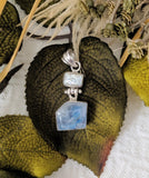 Artisan Crafted Sterling Labradorite Baroque Pearl Pendant