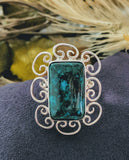 Artisan Crafted Chrysocolla & Sterling Silver Ring
