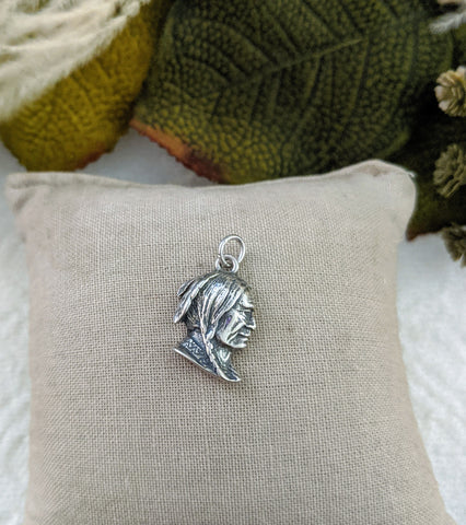 Vintage Sterling Silver Indian Head Charm